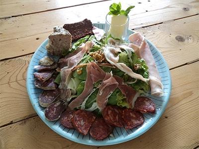 Assiette de campagne pur porc